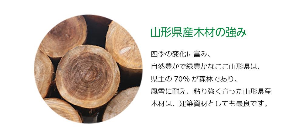 山形県産の木材