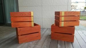 山形市の材木を利用したウッドボックス